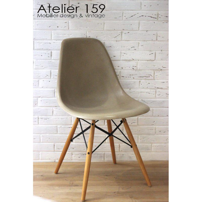Dsw chaise eames originale et vintage greige herman miller for Chaise eames dsw originale