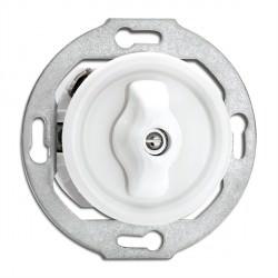 Interrupteur Rotary en porcelaine rond vendu sans son cache (encastrable) - THPG