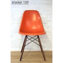 DSW Chaise Eames originale et vintage Red Orange Herman Miller