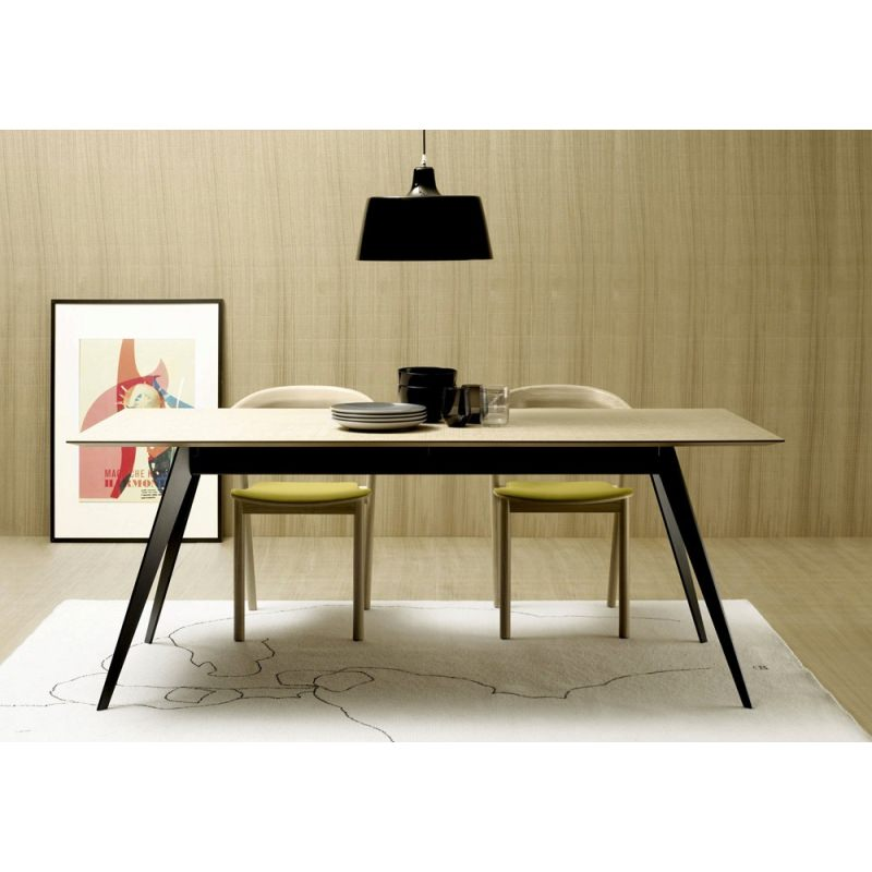 Table basse scandinave pied metal for Table bois pied metal
