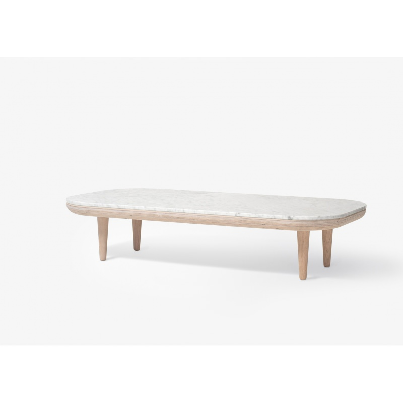 TABLE BASSE FLY RECTANGULAIRE MARBRE SC5  AND TRADITION  Atelier 159 -> Table Basse Chene Clair Et Marbre