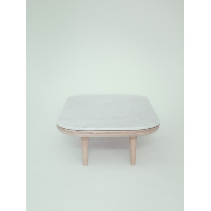 Table basse fly rectangulaire marbre sc5 and tradition - Table en marbre rectangulaire ...