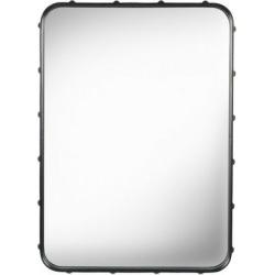 Miroir Adnet rectangulaire Noir - 70 x 48 cm - Gubi - Adnet