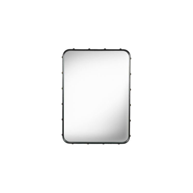 Miroir adnet rectangulaire noir 70 x 48 cm gubi adnet atelier 159 for Miroir rectangulaire noir