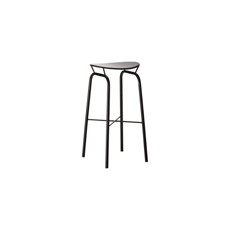 tabouret haut nagasaki noir h 74 cm gubi mathieu mat got atelier 159. Black Bedroom Furniture Sets. Home Design Ideas