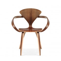 """Fauteuil """"Arm Chair"""" Norman Cherner (Noyer / Natural Walnut) - Cherner Chair"""