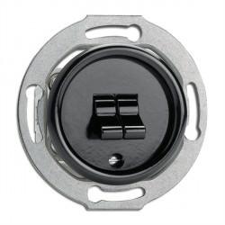 Double interrupteur Toogle en bakélite  vendu sans son cache (encastrable) - THPG