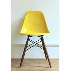 DSW Chaise Eames originale Brillant yellow Herman Miller
