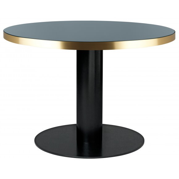 Table ronde Gubi 2.0 plateau verre - Gubi