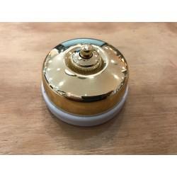 Bouton poussoir Dimbler doré Externe (pose en saillie) Ref. 60 310 55 2 - FONTINI