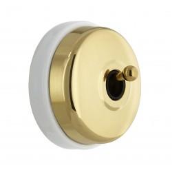 Bouton poussoir Dimbler doré Externe levier doré (pose en saillie) Ref. 60 312 55 2- FONTINI