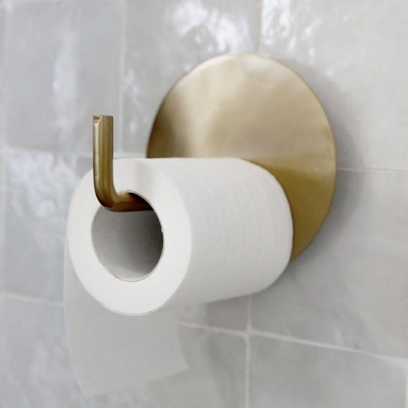 Porte papier toilette laiton Text - House Doctor