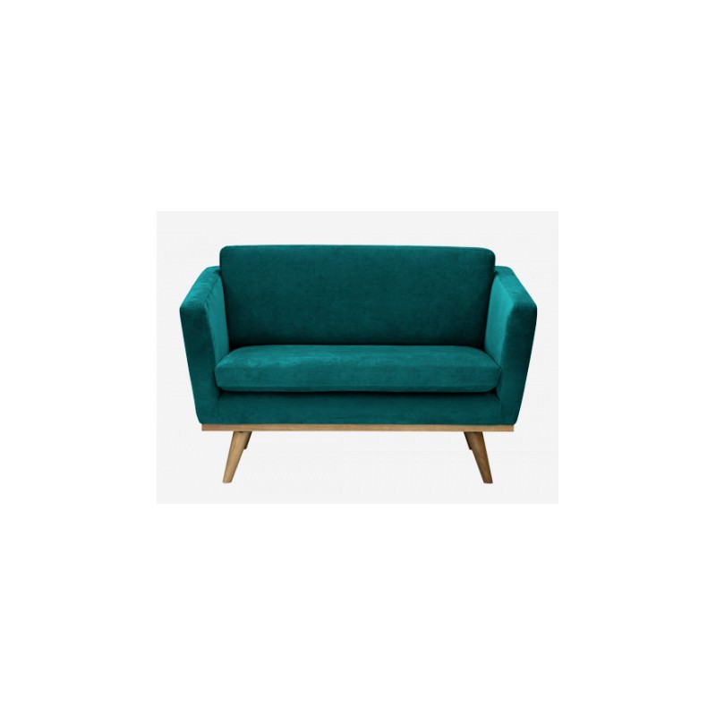 canap 120 50 39 s love seat velours bleu canard red edition atelier 159. Black Bedroom Furniture Sets. Home Design Ideas