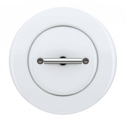 Interrupteur Rotatif DØ FIT en porcelaine blanche Chrome (encastrable) - FONTINI
