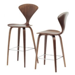 "Tabouret ""Bar Stool"" Norman Cherner (Noyer classique / Classic Walnut) - Cherner Chair"