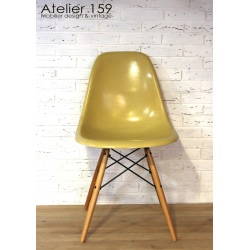 DSW Chaise Eames originale et vintage Ochre Light Herman Miller