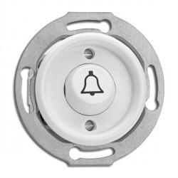 Bouton poussoir symbole sonnette en duroplast sans cache (encastrable) - THPG