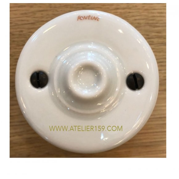 Couvercle aveugle Garby en porcelaine blanche - FONTINI