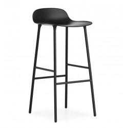 Tabouret Haut Form (H.65 ou 75 cm) acier noir / noir- Normann Copenhagen