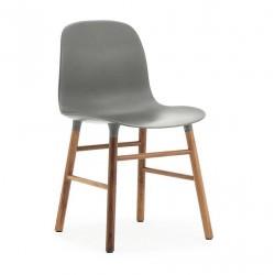 Chaise Form pieds Noyer / gris- Normann Copenhagen