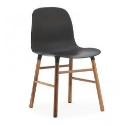Chaise Form pieds Noyer / noir- Normann Copenhagen