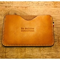 Porte-cartes simple Gold - Le Sellier
