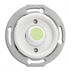 Bouton poussoir sans symbole en duroplast phosphorescent vendu sans son cache (encastrable) - THPG