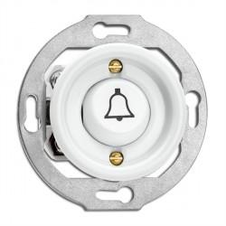 Bouton poussoir symbole sonnette en porcelaine vendu sans son cache (encastrable) - THPG