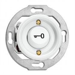 Bouton poussoir symbole ouvre porte en porcelaine vendu sans son cache (encastrable) - THPG