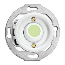 Bouton poussoir sans symbole en porcelaine phosphorescent vendu sans son cache (encastrable) - THPG