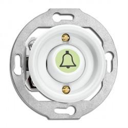 Bouton poussoir symbole sonnette en porcelaine phosphorescent vendu sans son cache (encastrable) - THPG