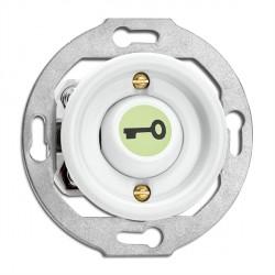 Bouton poussoir symbole ouvre porte en porcelaine phosphorescent vendu sans son cache (encastrable) - THPG