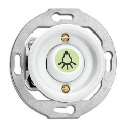 Bouton poussoir symbole lumière en porcelaine phosphorescent vendu sans son cache (encastrable) - THPG