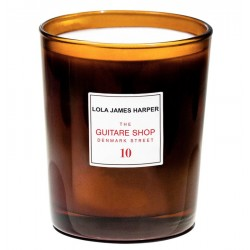 "Bougie parfumée "" 10 The Guitare Shop on Denmark Street"" 190G CANDLE - Lola James Harper"