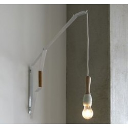 Applique avec prise Studio Simple / L 120 cm - Serax