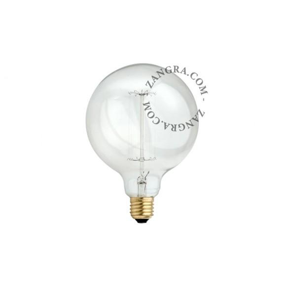 Ampoule globe 125 mm à filament Edison 40W - Zangra