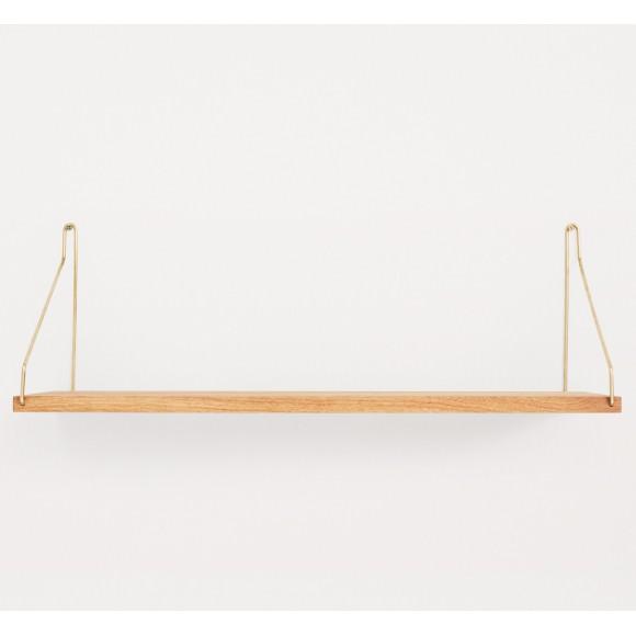Etagère chêne Single Shelf | Brass Brackets - FRAMA