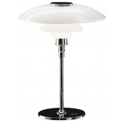 Lampe de table PH 4 1/2-3 1/2 chrome haute brillance - Poul Henningsen - Louis Poulsen