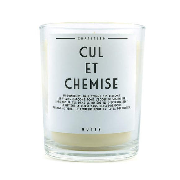 Bougie parfumée CUL ET CHEMISE 190g - HUTTE