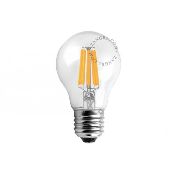 Ampoule filaments LED - Verre clair - E27 6,5W 2200K