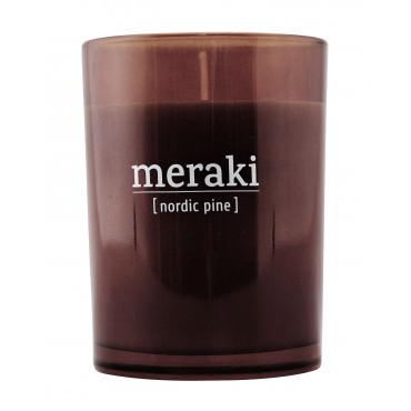 Bougie parfumée MERAKI 8 cm - Nordic Pine