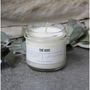 "Bougie parfumée ""Thé Vert"" Verre 200g - Candlebox"
