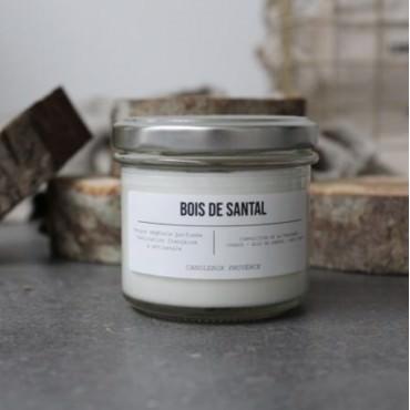 """Bougie parfumée """"Bois de santal"""" Verre 200g - Candlebox"""