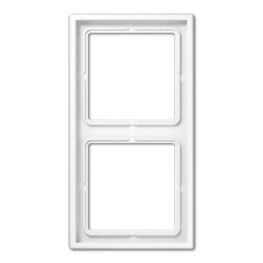 Plaque double duroplast brillant blanc LS990 - LS982WW - JUNG