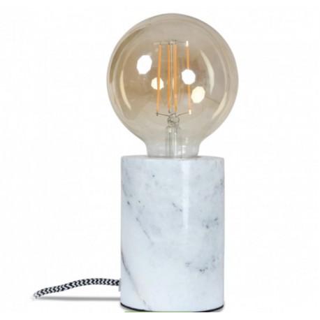 Lampe de table en marbre blanc 7,8 xH.10,5cm