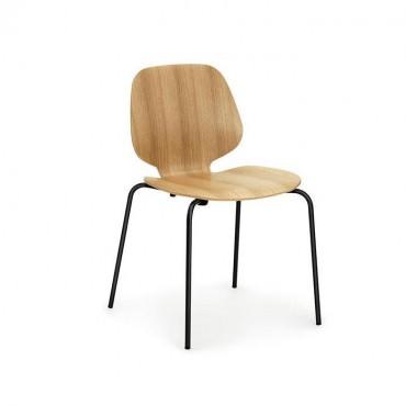 """Chaise """"My Chair"""" Chêne / pieds métal noir - Normann Copenhagen"""