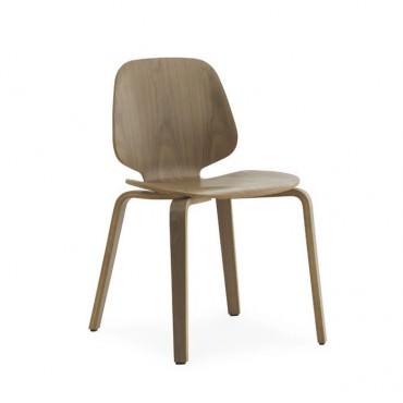 """Chaise """"My Chair"""" Frêne teinté blanc- Normann Copenhagen"""