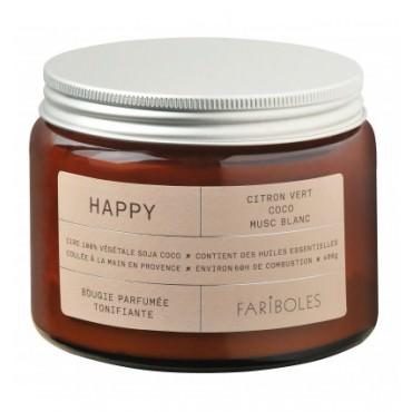 Bougie parfumée HAPPY 400g - Fariboles