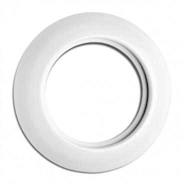 Cache simple en porcelaine rond pour prises RJ45, téléphone, speaker, TV (encastrable) - Réf.173085 - THPG