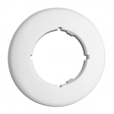 Cache simple rond en duroplast pour prises Data RJ45, Dimmer, hauts-parleurs, antenne TV (encastrable) Ref. 176421 - THPG